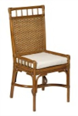 Chestnut Rattan Desk Chair