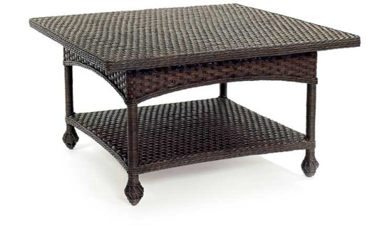Wicker Square Cocktail Table