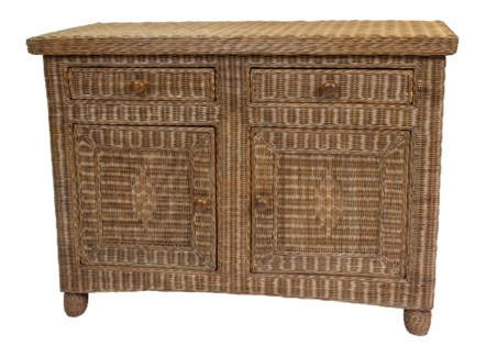 Chestnut Eastern Shore Wicker Sideboard