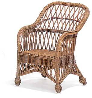 Child's Lemonade Wicker Chair