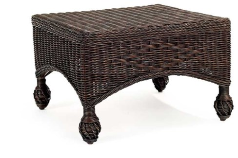 Dark Walnut Closed Weave Ottoman