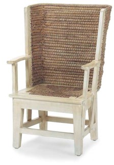 Orkney Antique White Warming Chair