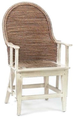 Orkney Antique White Spoon Arm Dining Chair