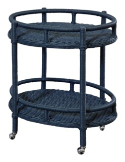 Sausalito Oval Bar Cart
