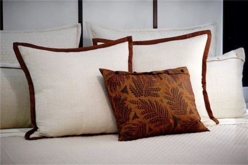 folio pillow with french knots