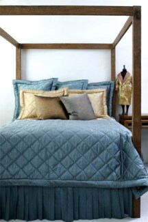 dupione big diamond quilt coverlet