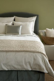 snap cotton duvet with charmeuse trim