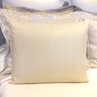 sheer metallic linen pillow