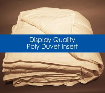 display quality poly duvet