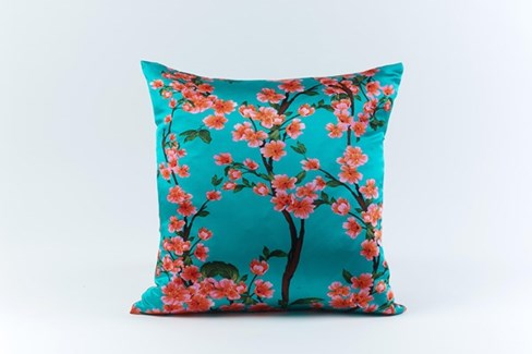 cherry silk pillow