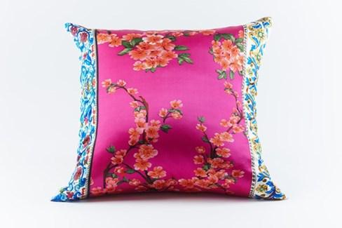cherry silk pillow