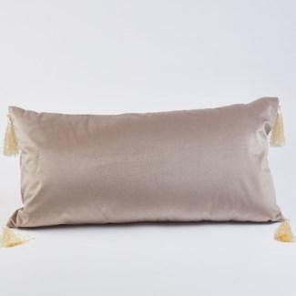 lumbar velvet pillow