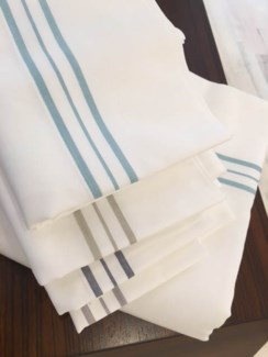 hem stripe sheet set