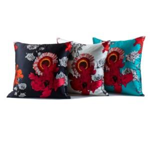 silk prints pillows