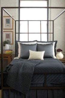 steel canopy bed