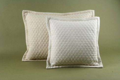 quilted basketweave pillow