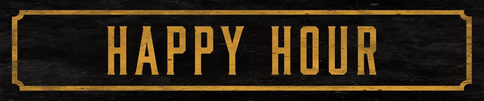 Happy Hour Street Sign