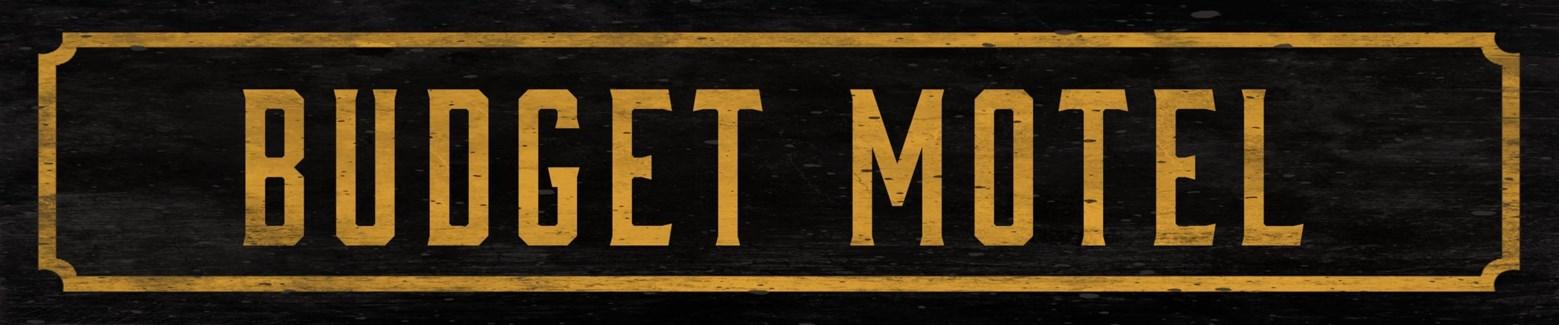 Budget Motel Street Sign
