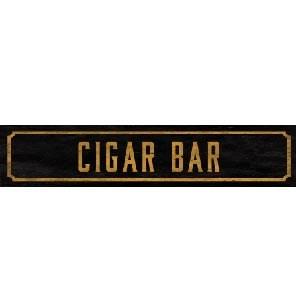 Cigar Bar Street Sign