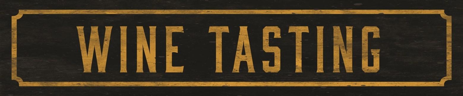 Wine Tasting Street Sign