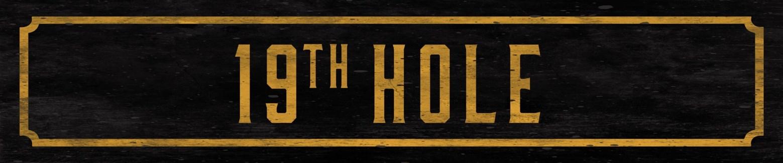 19th Hole Street Sign