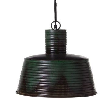 Ribbed Copper Pendant