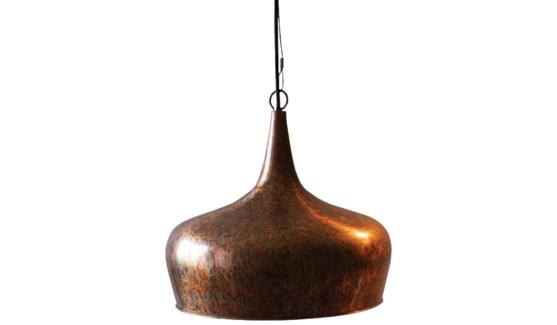 Copper Onion Pendant