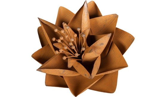 Rust Lotus Flower 12 Inch