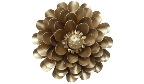 Gold Aster Flower 12Inch