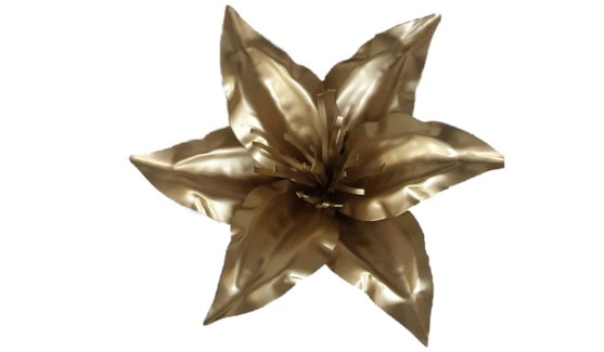 Gold Lily Flower 12Inch