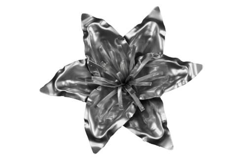 Platinum Lily Flower 12Inch