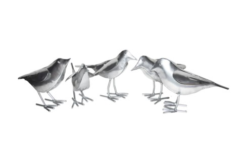 Platinum Set Of 5 Birds