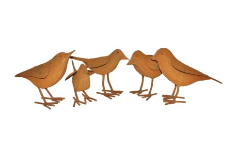 Rust Set Of 5 Birds