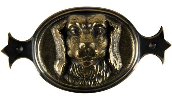 Brass Spaniel Door Plate