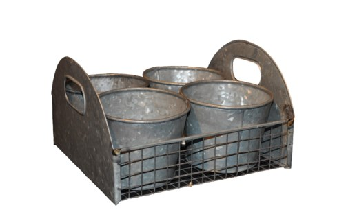 Zinc Carrier with Four CachePot