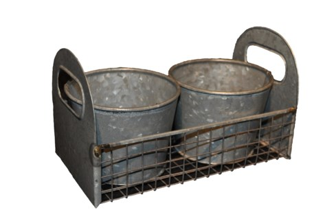 Zinc Carrier with Two CachePot