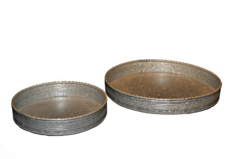 Zinc Tray Set Of 2