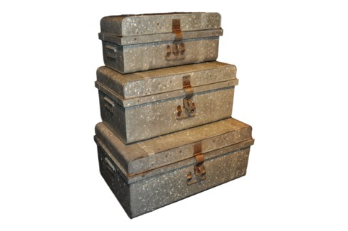 Zinc Trunks Set Of 3