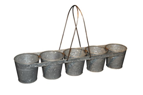 Zinc 5 Bucket Carrier