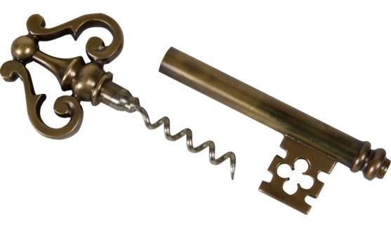 Brass Corkscrew Key Cabernet