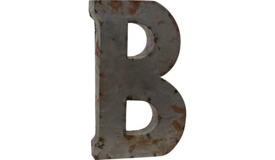 """Letter 'B' Reclaimed Tin 14"""""""