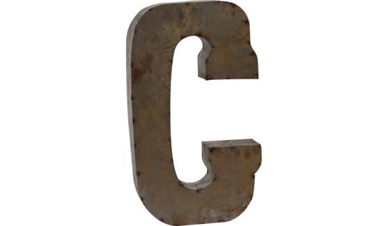 """Letter 'C' Reclaimed Tin 14"""""""