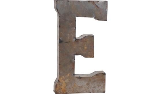 """Letter 'E' Reclaimed Tin 14"""""""