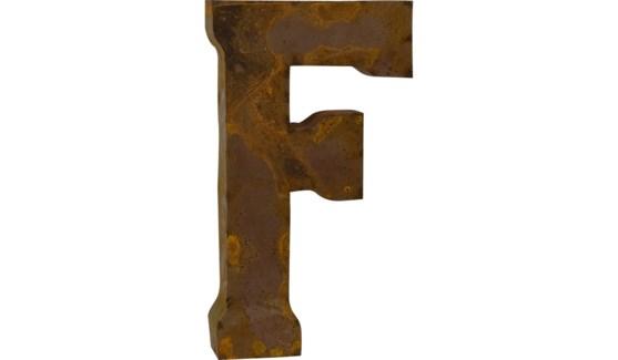 """Letter 'F' Reclaimed Tin 14"""""""