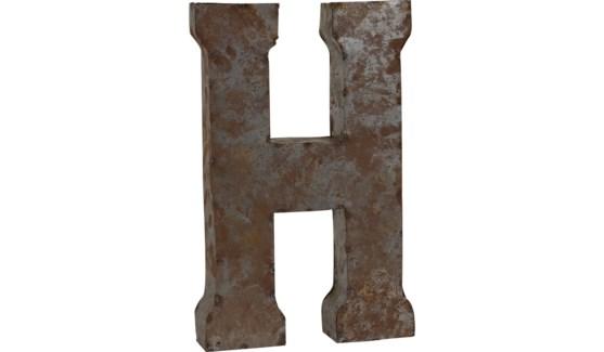 """Letter 'H' Reclaimed Tin 14"""""""