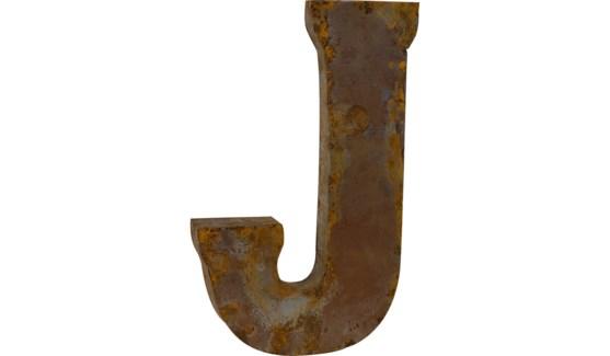 """Letter 'J' Reclaimed Tin 14"""""""