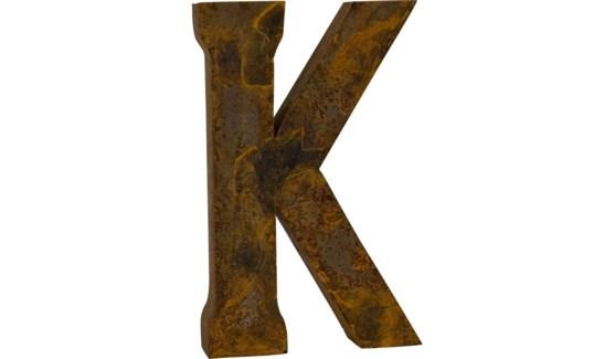 """Letter 'K' Reclaimed Tin 14"""""""