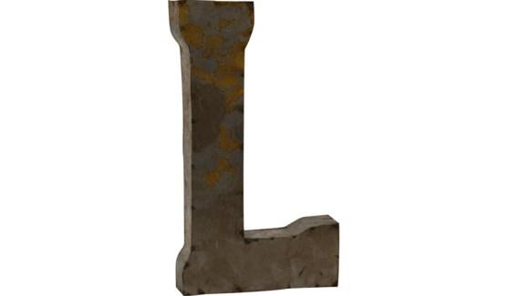 """Letter 'L' Reclaimed Tin 14"""""""