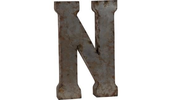 """Letter 'N' Reclaimed Tin 14"""""""