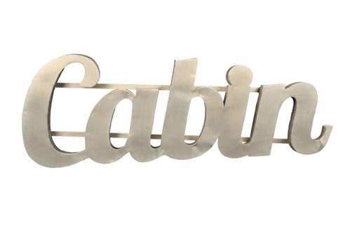 Cabin' Zinc Sign